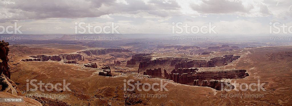 Panorama Canyonlands National Park Southwestern Utah High Desert Formation royalty-free stock photo