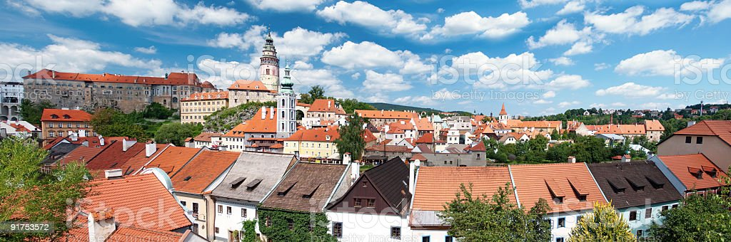 Panorama Cesky Krumlov royalty-free stock photo