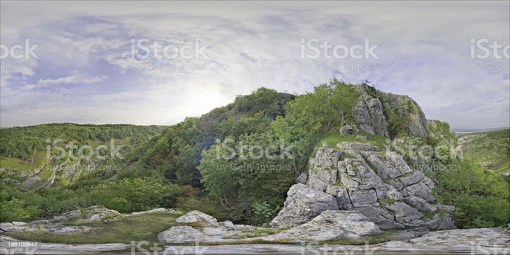 Panorama Cheddar Gorge stock photo