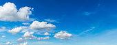 Panorama cloudscape in bluesky background.