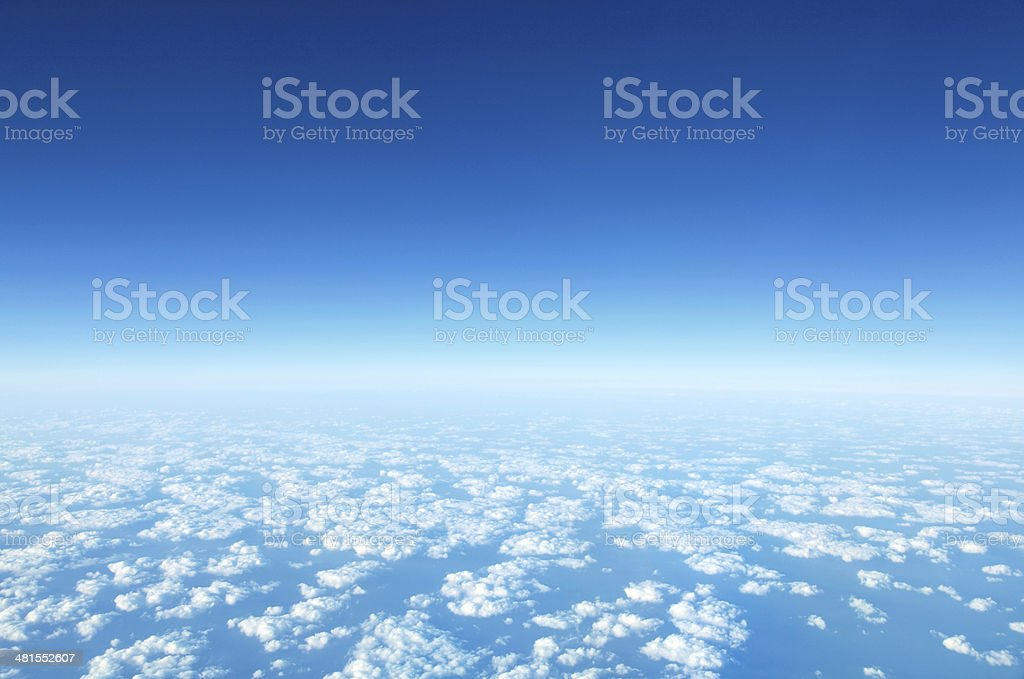 panorama Cloudscape stock photo