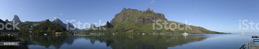 Panorama: Cook's Bay, Moorea stock photo