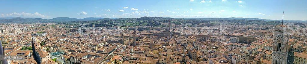 Panorama di Firenze dalla Cupola del Duomo stock photo