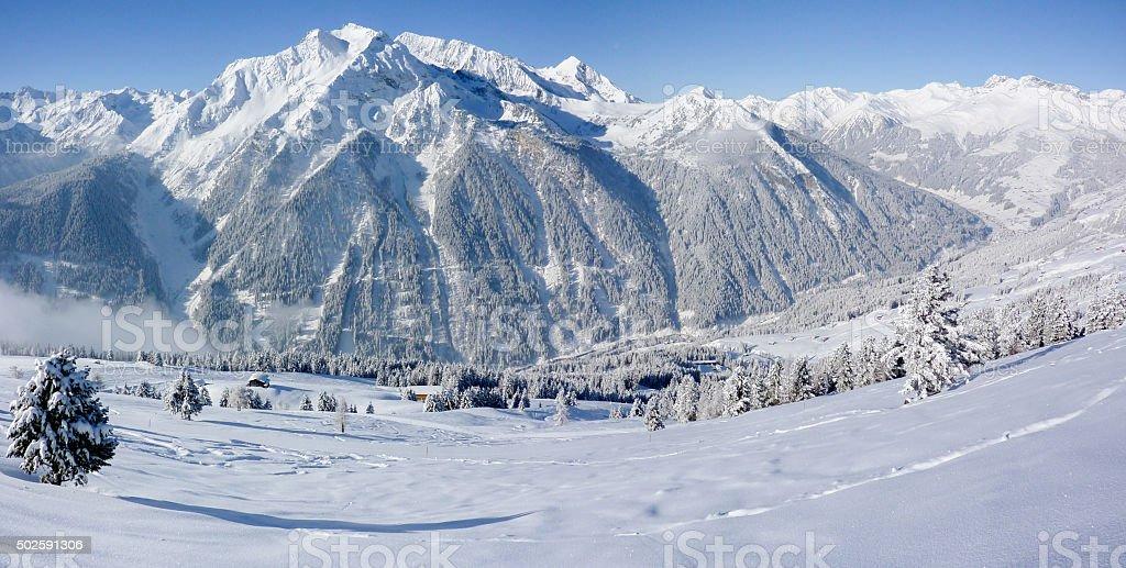Panorama einer Winterlandschaft stock photo