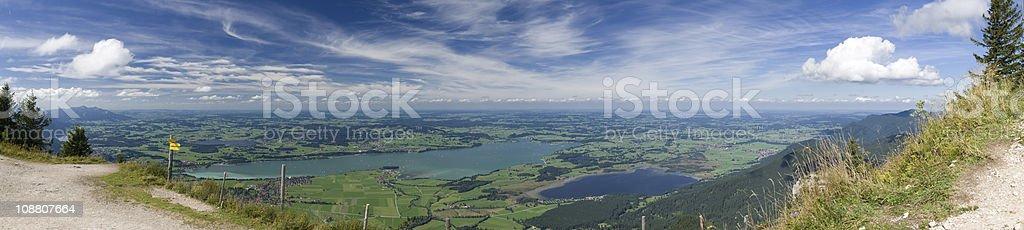 Panorama Foggensee wide stock photo