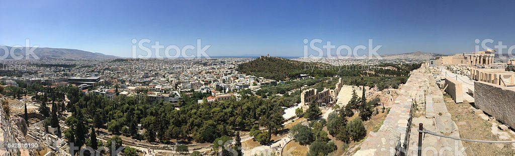Panorama From Athens From Acropolis stock photo