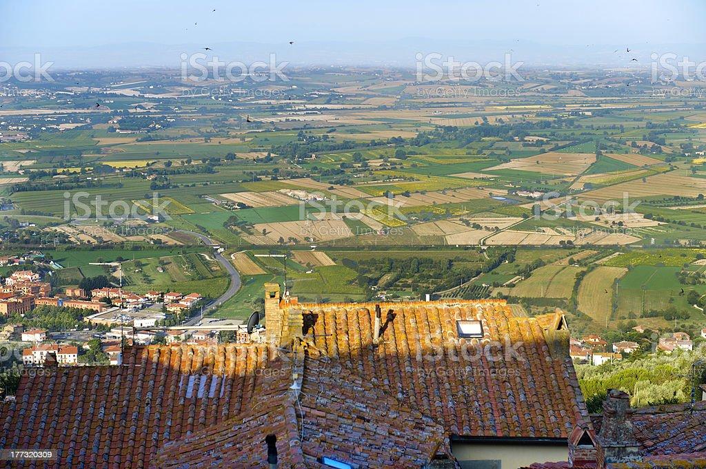 Panorama from Cortona royalty-free stock photo