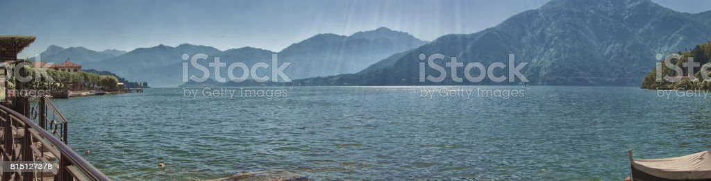 Panorama from Lenno stock photo