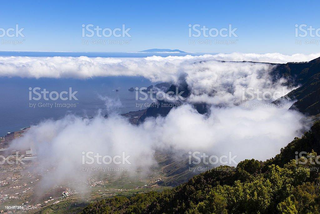 Panorama from Mirador de la Llania, El Hierro stock photo