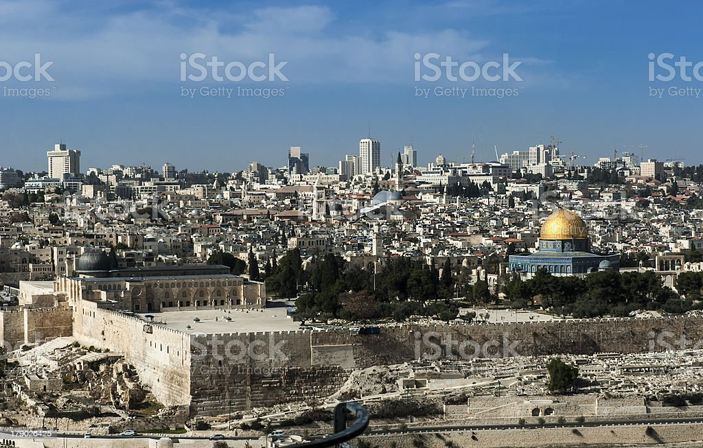Panorama from Mount of Olives royalty-free stock photo