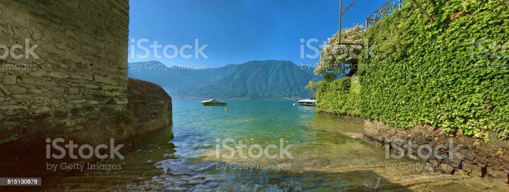 Panorama from Ossuccio, Lake Como stock photo