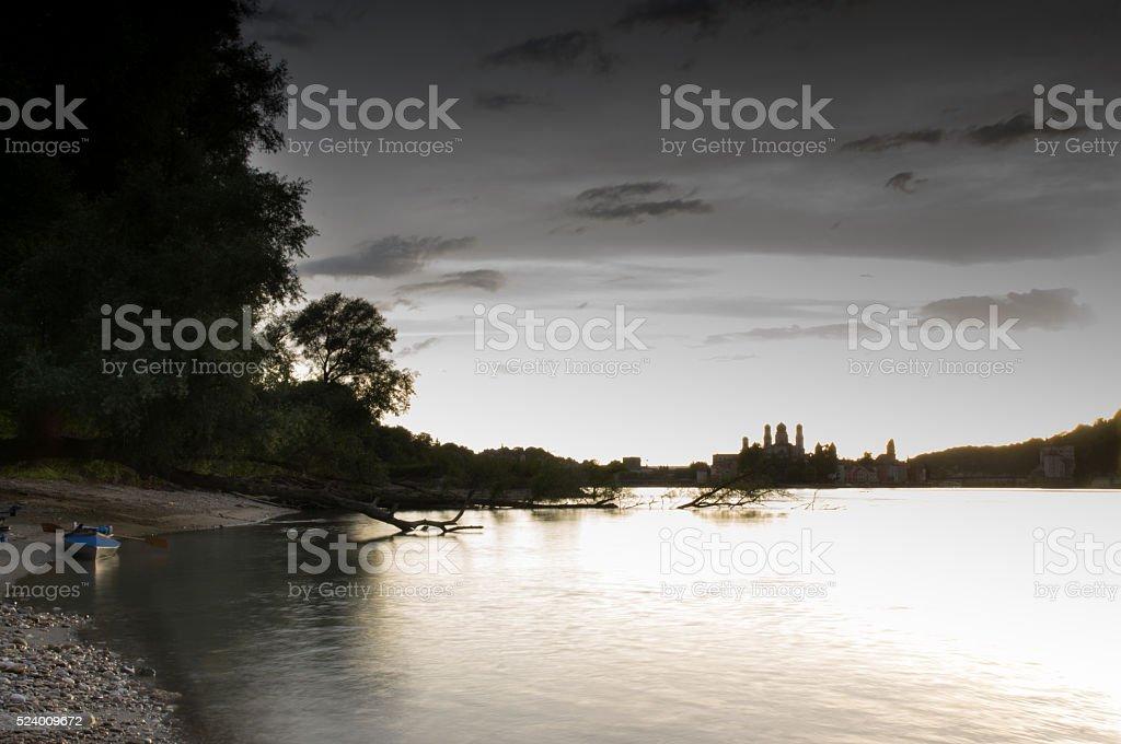 Panorama from Passau stock photo