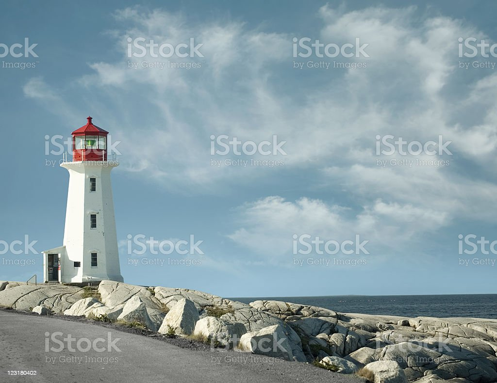 Panorama from Peggy`s Cove lighthouse royalty-free stock photo