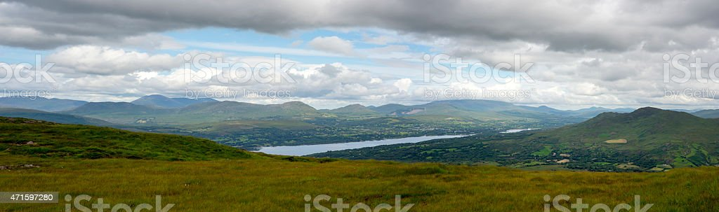 panorama from the kerry way stock photo