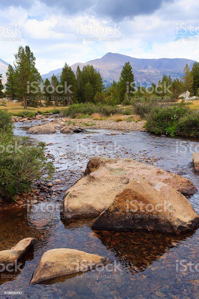 Panorama from Yosemite National Park stock photo