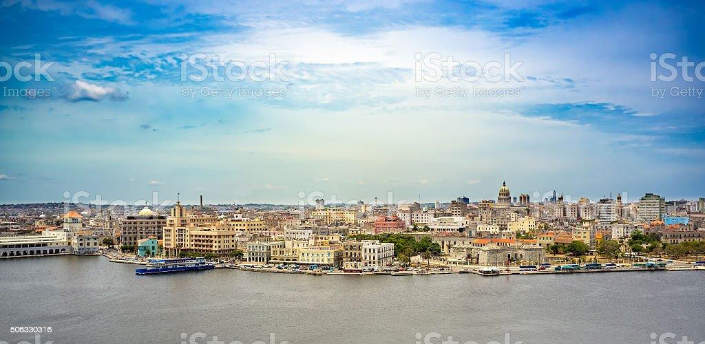 Panorama General view of Old Havana stock photo