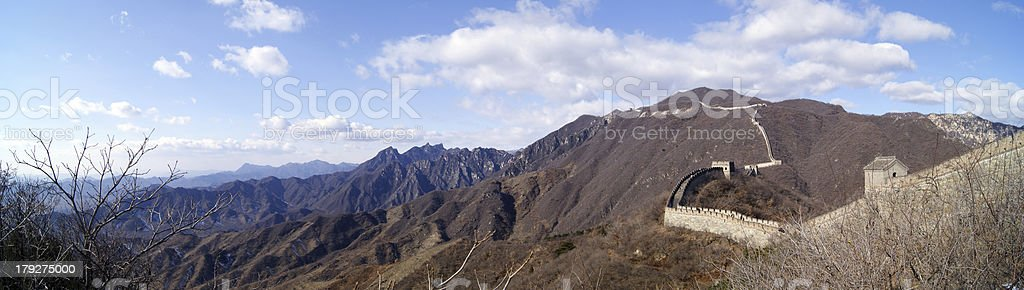 Panorama - Great Wall of China royalty-free stock photo