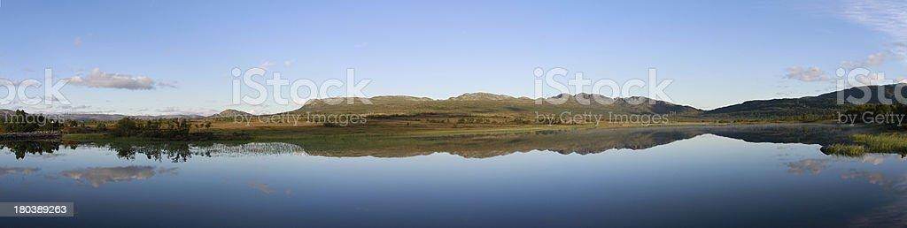 Panorama Hovden de Noruega foto de stock libre de derechos