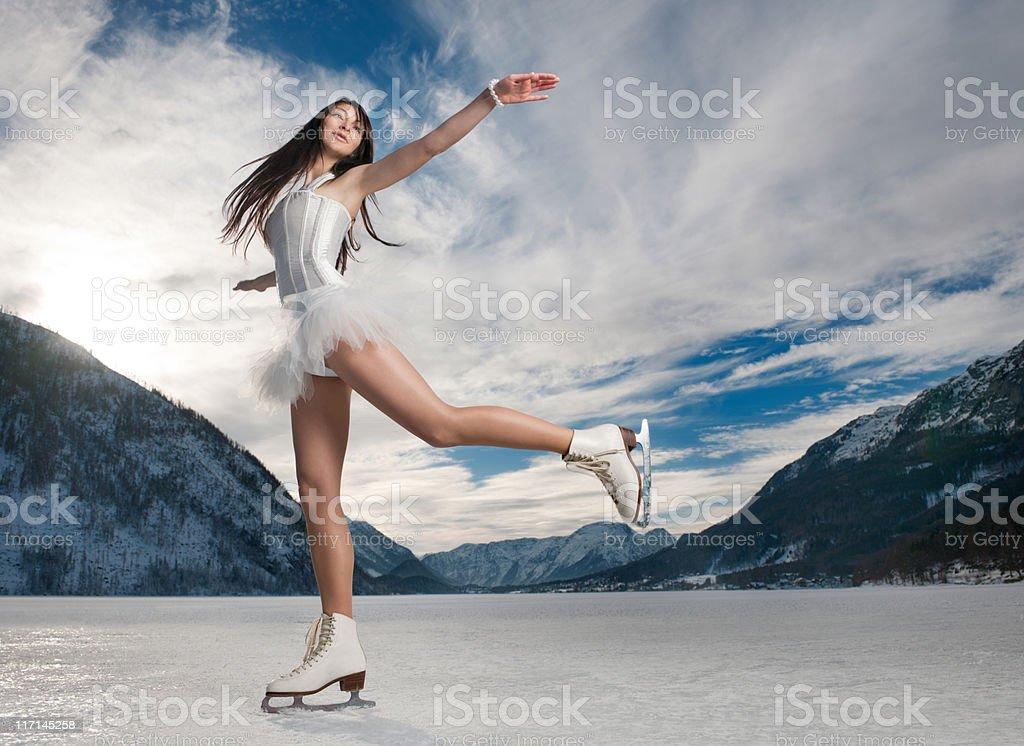 Panorama Ice Skating (XXXL) stock photo