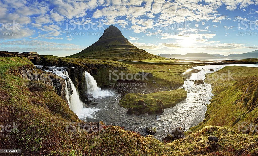 Panorama - Iceland landscape stock photo