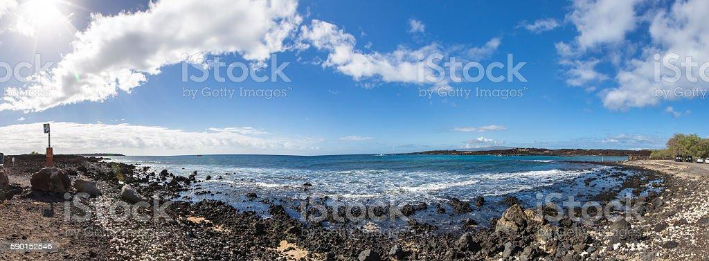 Panorama image of a Hawaiian beach stock photo