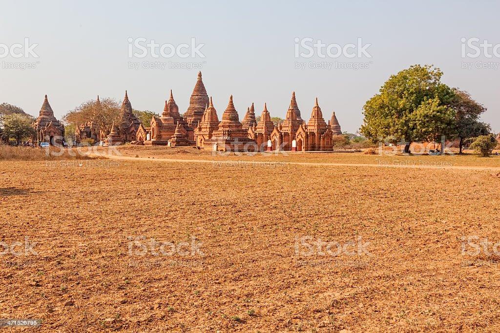 Panorama in Bagan royalty-free stock photo
