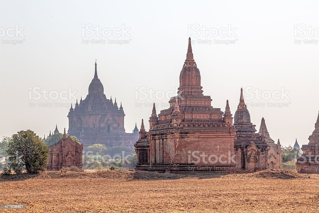 Panorama in Bagan royalty-free stock photo