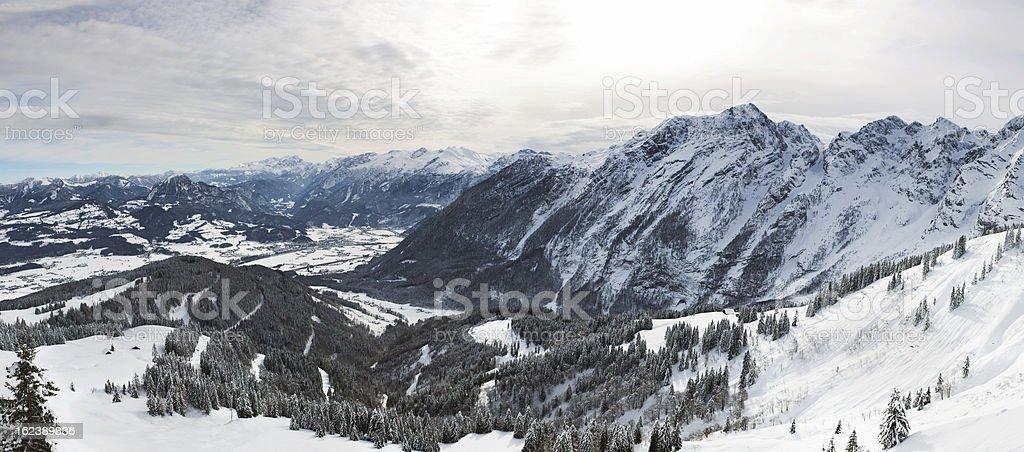 Panorama in Bavarian Alps, Berchtesgadener Land, Germany stock photo