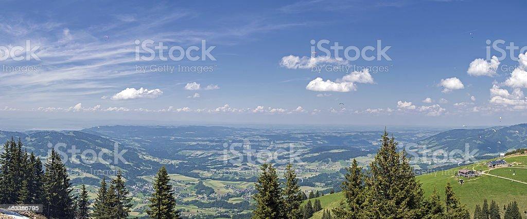 Panorama in Bregenzerwald stock photo