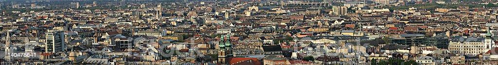 Panorama in Budapest, Hungary royalty-free stock photo