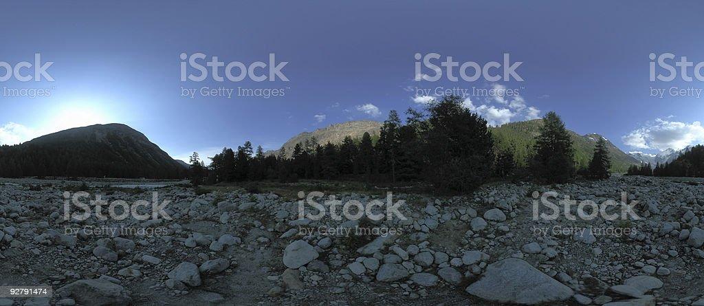 panorama in engadin / switzerland royalty-free stock photo