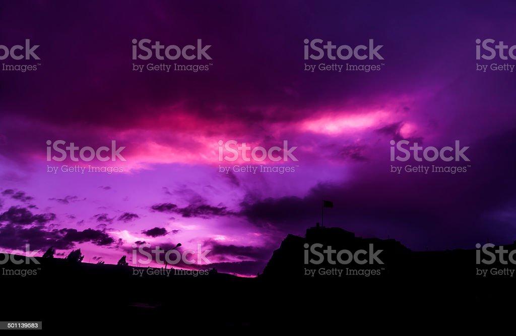 Panorama in Kars (4 Season) stock photo