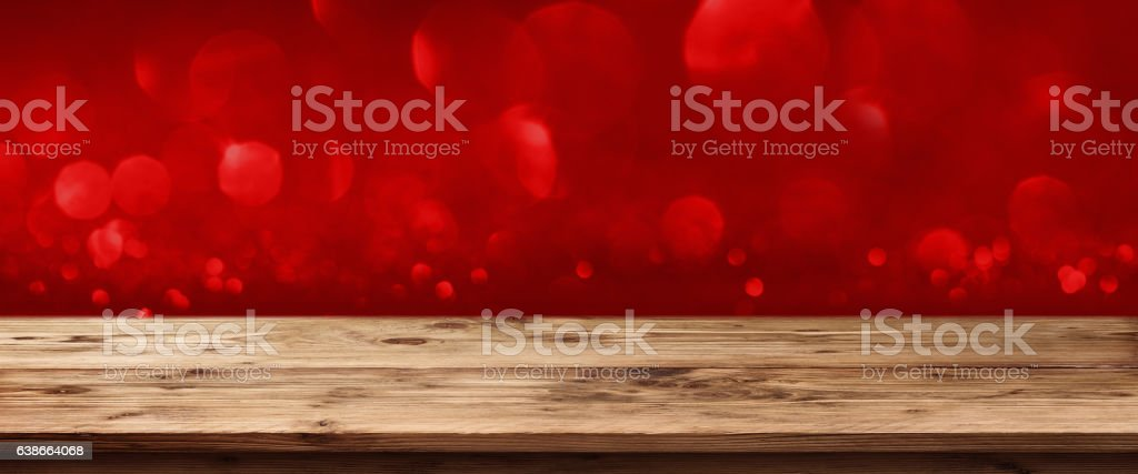 Panorama in red with bokeh stock photo