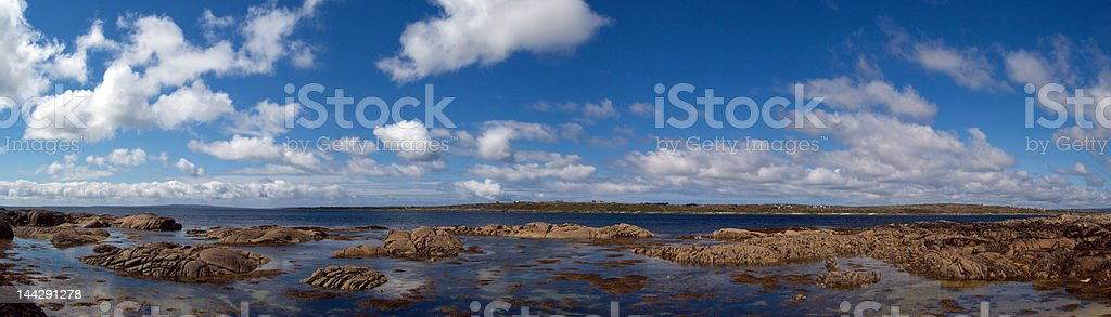 Panorama in West irish coast royalty-free stock photo