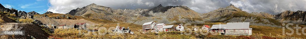 Panorama Independence Mine, Hatcher Pass, Alaska stock photo