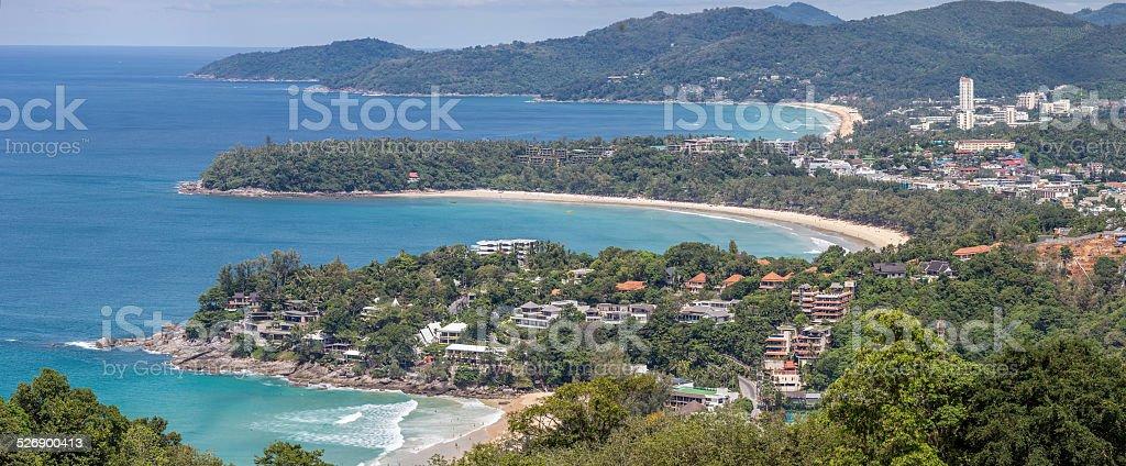 Panorama Karon View Point stock photo