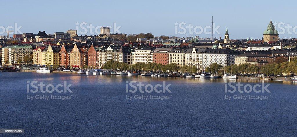 Panorama Kungsholmen Stockholm. stock photo
