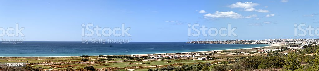 Panorama landscape at Lagos in the Algarve Portugal royalty-free stock photo
