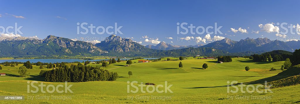panorama landscape in Bavaria royalty-free stock photo