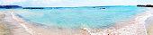 panorama landscape of elafonissi beach Crete island greece