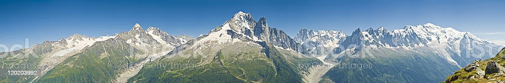 Panorama Landscape of European Alps stock photo
