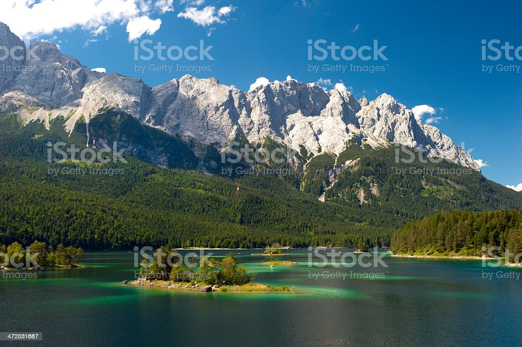 Panorama landscape on a sunny day in Bavaria stock photo