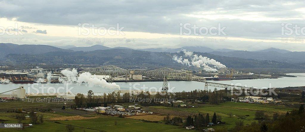 Panorama: Longview, Washington royalty-free stock photo