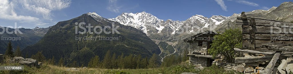 Panorama Monte Rosa stock photo