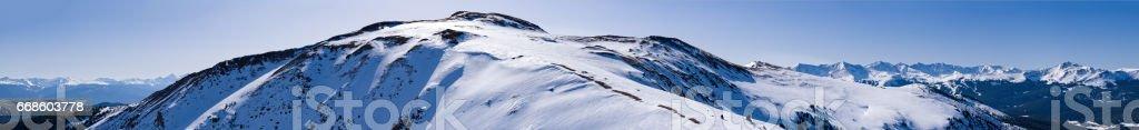 Panorama Mountain View Gore Range stock photo