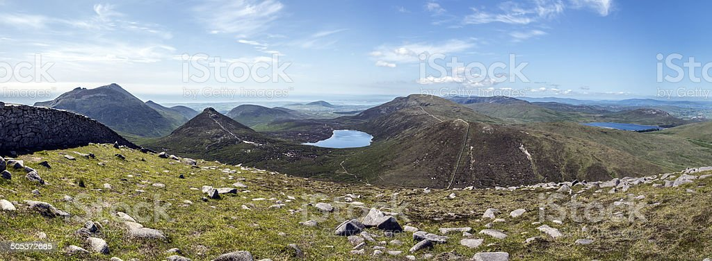 panorama Mourne mountains North Ireland stock photo