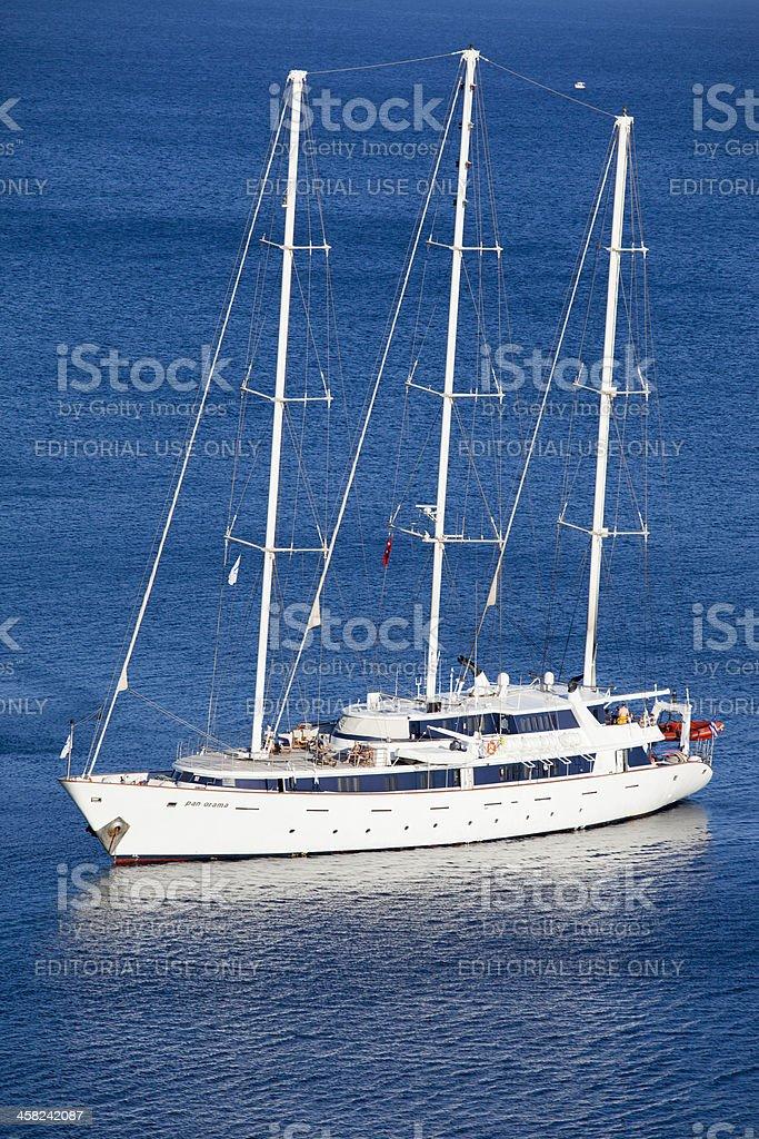 Panorama named Cruiser moored to Bay royalty-free stock photo