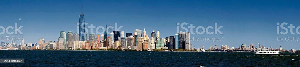 Panorama New York City and Brooklyn stock photo