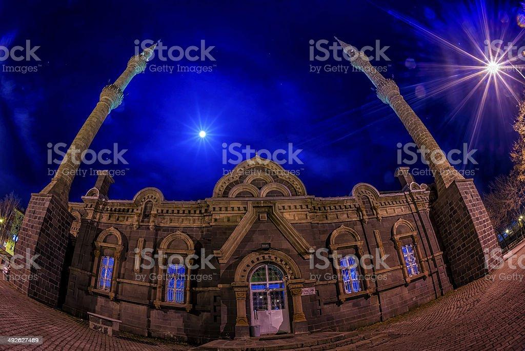 Panorama Night in Kars (4 Season) stock photo