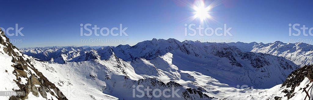 Panorama Obergurgl royalty-free stock photo